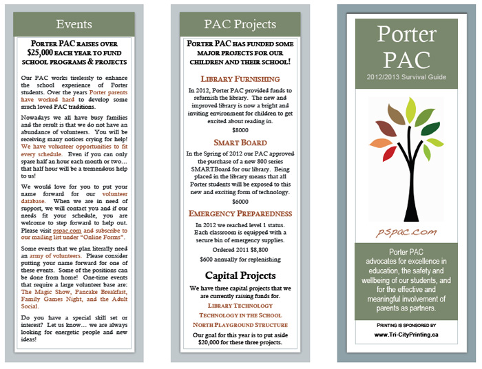 Porter PAC Flyer
