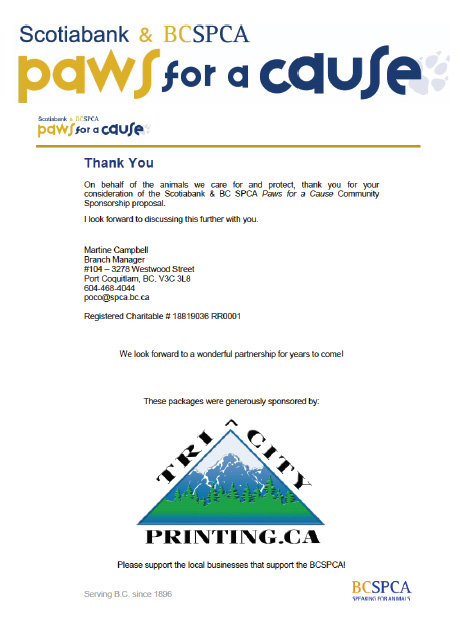 Paws for the Cause project