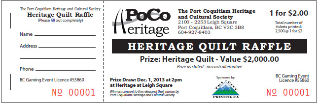 PoCo Heritage printed tickets