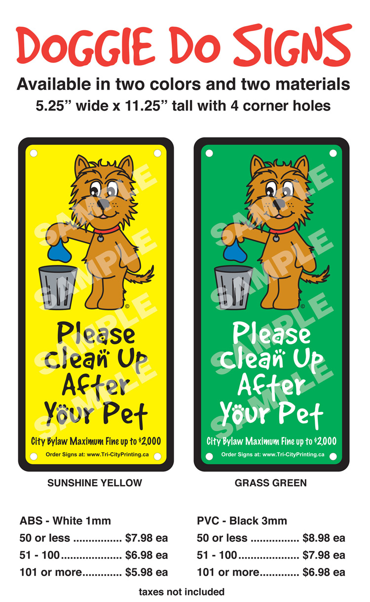 Doddy Sign - Clean up after your dog
