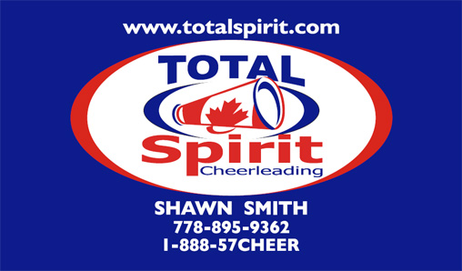 Total Spirit Cheerleading business card