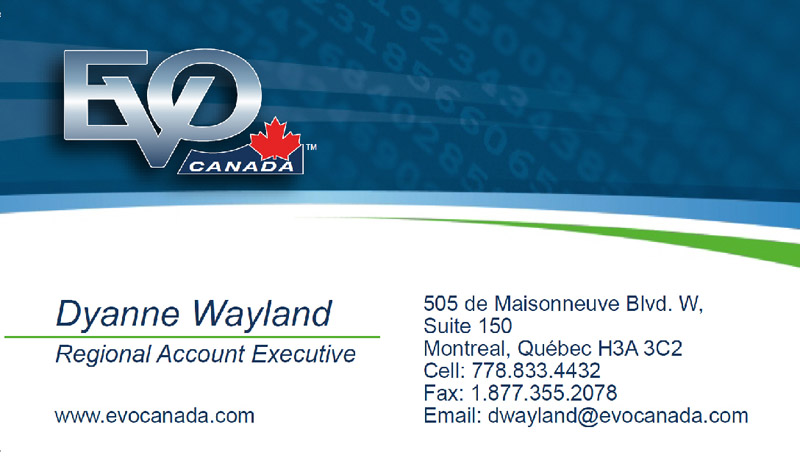 EVO Canada business card