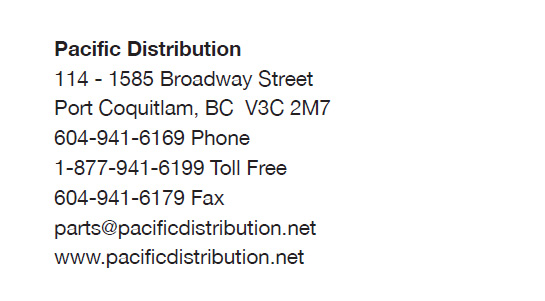 Pacific Distribution Inc. business card, back side