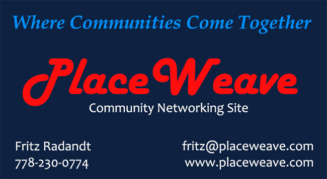 Place Weave company business card