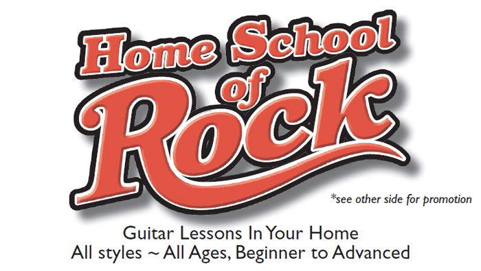 The Home School of Rock - business card front