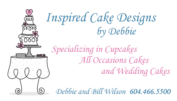 Inspired Cake Designs - business card