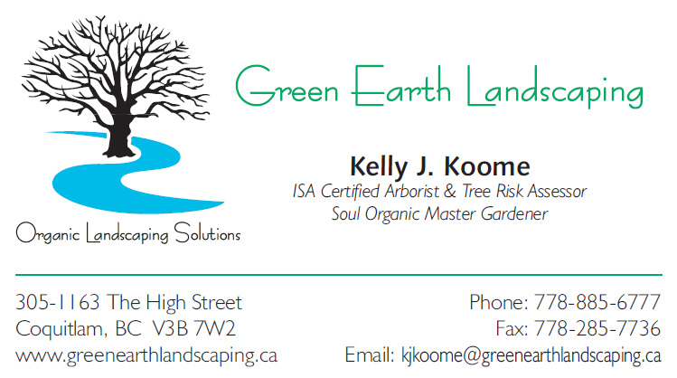 Green Earth Landscaping business card front