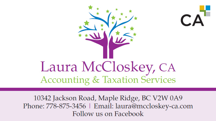 Laura McClosekey business card front