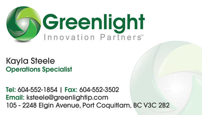 Greenlight Innovation Partners business card front