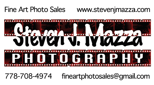 Steven Mazza Photography business card