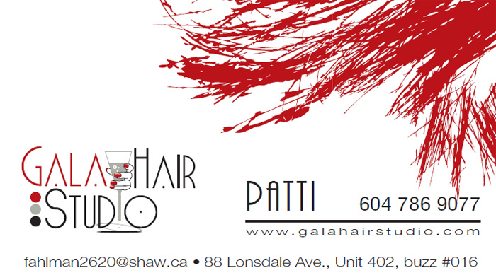 Gala Hair Studio business card