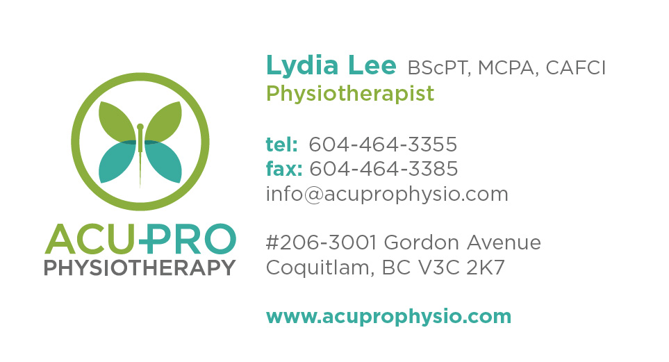 Acu-Pro Physiotherapy Clinic Coquitlam business card
