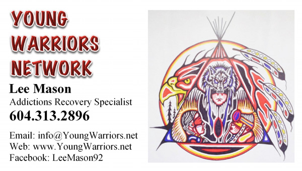 Young Warriors Network business card