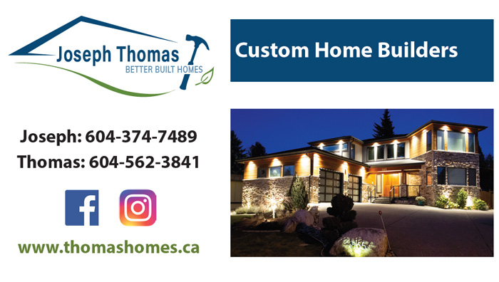 Custom Home Builders business card
