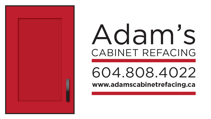 Adams Cabinet Refacing business card